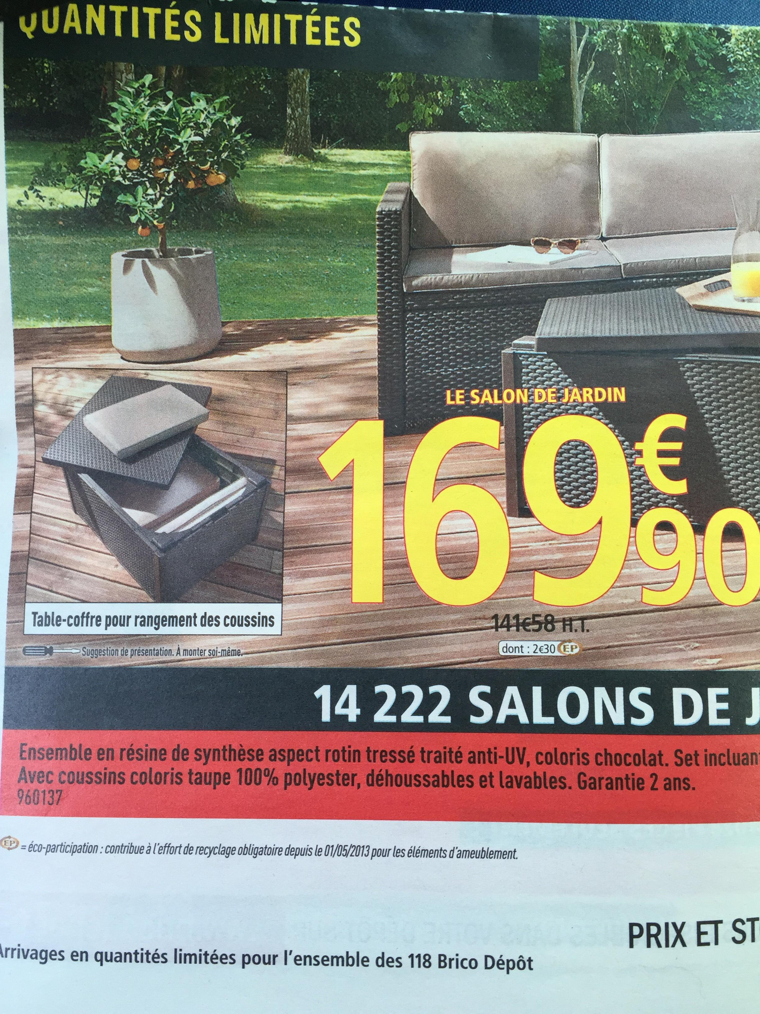 Salon de jardin allibert brico depot 2016 ch let maison - Allibert salon de jardin brico depot ...