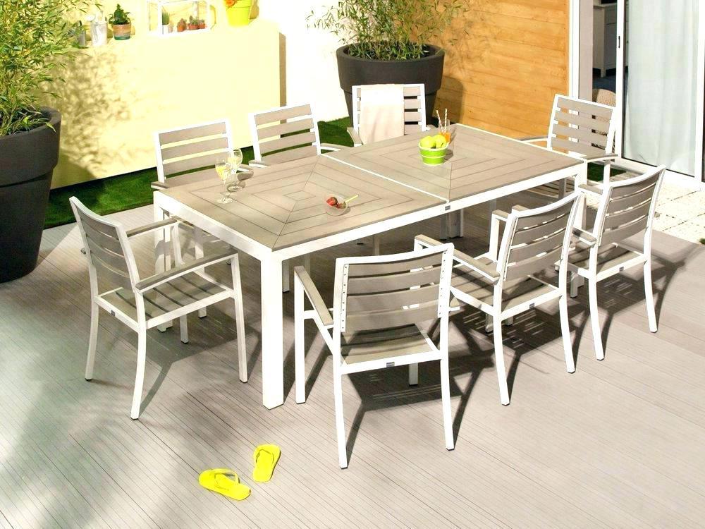 Salon de jardin en aluminium et bois composite