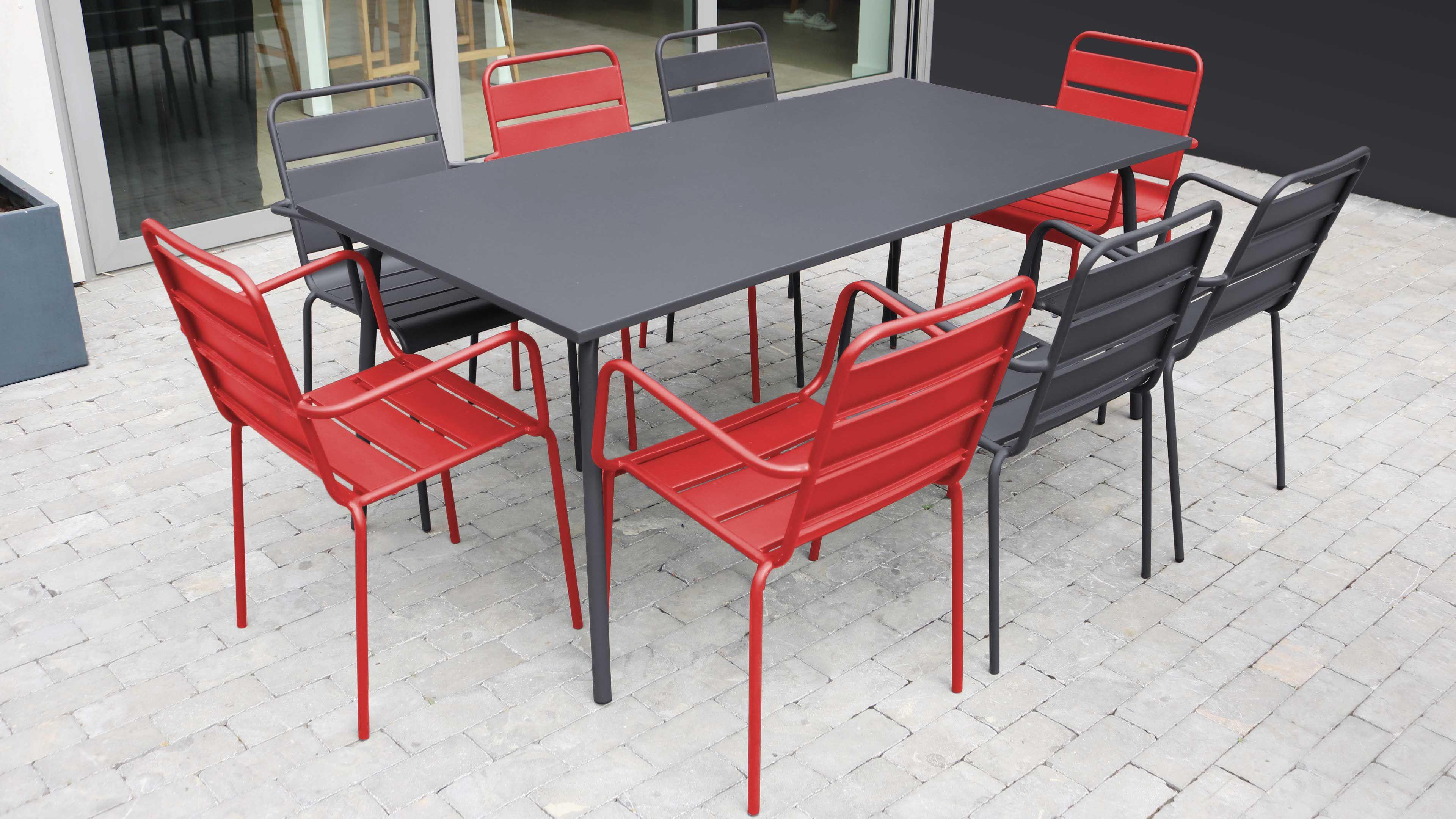 Salon de jardin aluminium design