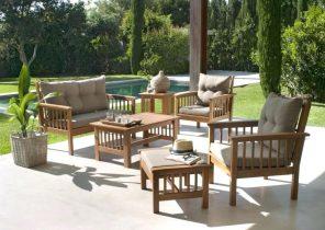Salon de jardin lounge sun island led - Châlet, maison et cabane