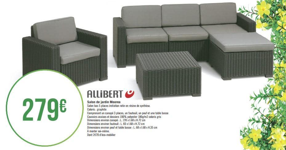 geant casino salon de jardin allibert ch let maison et. Black Bedroom Furniture Sets. Home Design Ideas