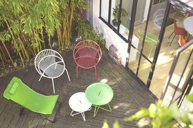 Mobilier de jardin color pas cher ch let maison et cabane - Mobilier de jardin colore ...