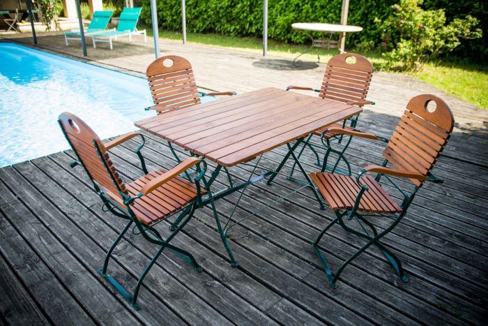 Salon de jardin acacia mr bricolage - Châlet, maison et cabane