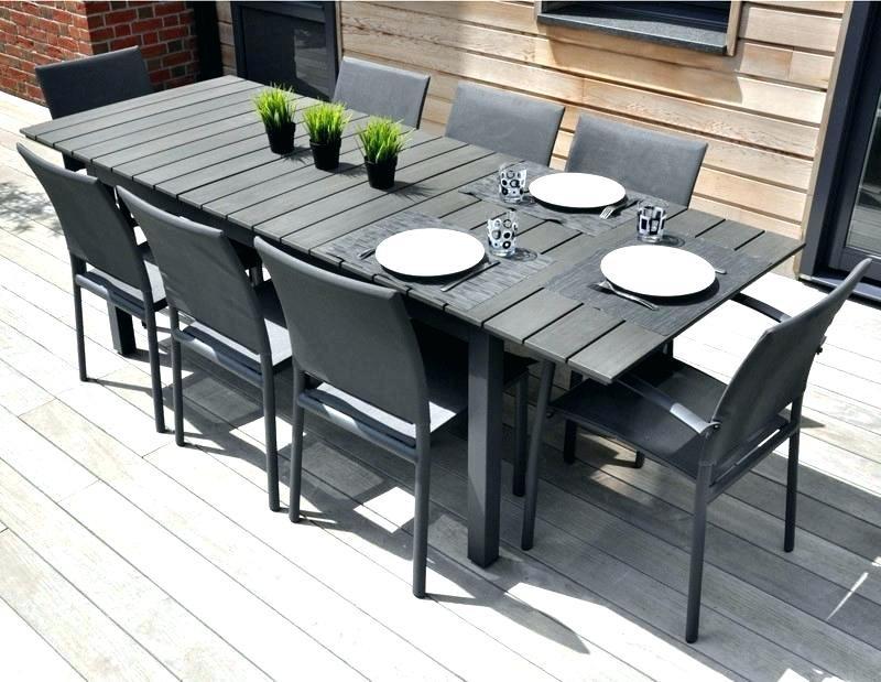 Salon de jardin bois composite aluminium