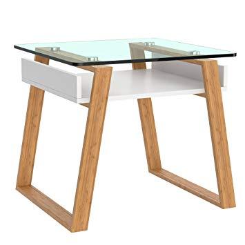Table basse de salon de jardin en bois