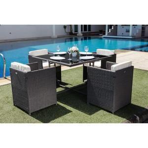 Salon de jardin table et chaises pas cher
