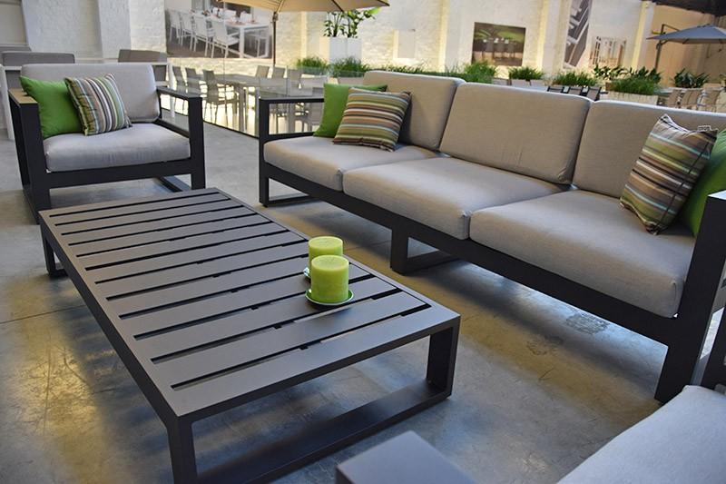 Table basse salon de jardin aluminium