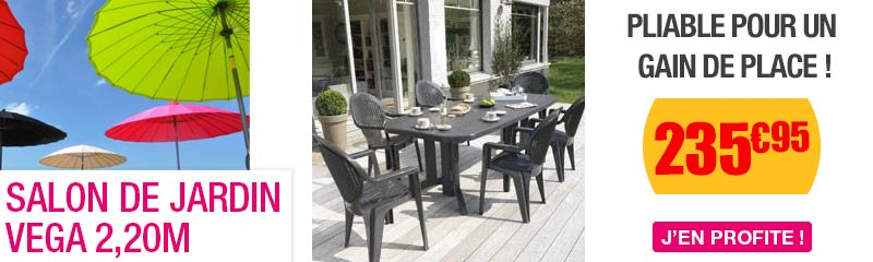 Table salon de jardin pvc