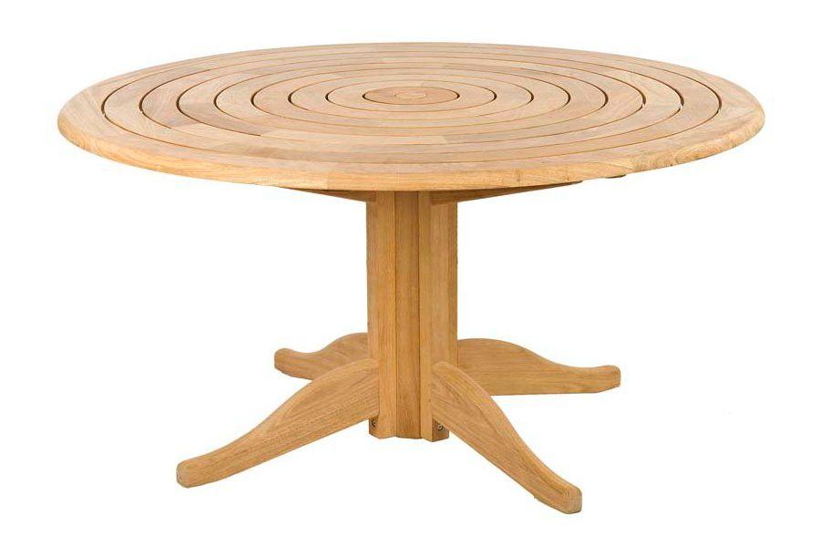 Table de salon de jardin ronde en bois - Châlet, maison et cabane